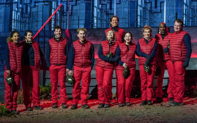 STRICT EMBARGO - NO PUBLICATION BEFORE 22:30 GMT Saturday 14th November 2020. Editorial use only Mandatory Credit: Photo by Kieron McCarron/ITV/REX (11015999as) Trial, Gates to Hell - Campmates 'I'm a Celebrity... Get Me Out of Here!' TV Show, Series 20, Show 1, Gwrych Castle, Wales, UK - 15 Nov 2020