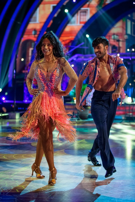 Strictly Come Dancing's Ranvir Singh and Giovanni Pernice