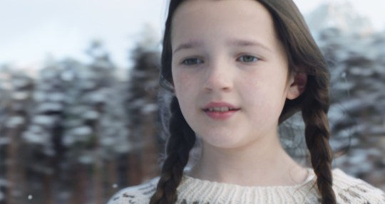 0-year-old ice skater Darcy Murdoch appearing in their new 2020 Christmas advert.