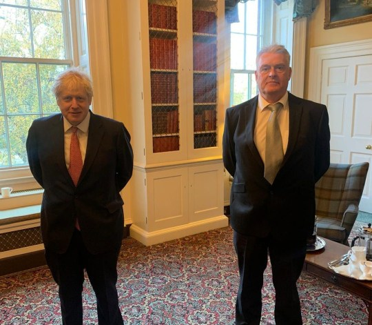 Lee Anderson MP with PM Boris Johnson 12/11/2020 Pic from open Facebook page