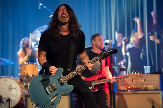 Dave Grohl performing with Foo Fighters