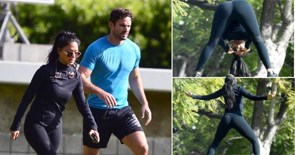 Nicole Scherzinger and Thom Evans on park date in LA