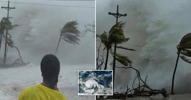 The powerful hurricane struck the Caribbean coast on Monday night