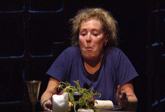 Beverley Callard during eating trial on 'I'm a Celebrity... Get Me Out of Here!' TV Show, Series 20, Show 3, Gwrych Castle, Wales, UK - 17 Nov 2020