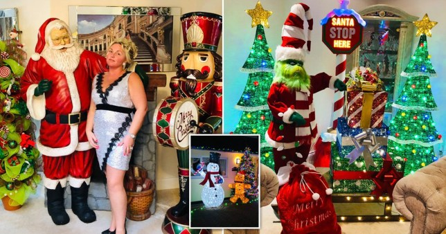 Joanne Smith in her Christmas decorated home