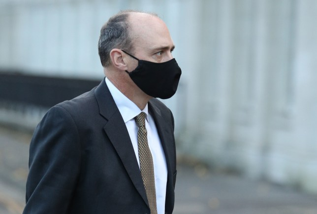 Matthew Mowbray, a former teacher at Eton College, arrives at Reading Crown Court, Berkshire, where he is on trial facing charges of of sexually assaulting three boys.