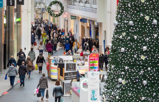 Christmas shoppers flock to The Centre in Livingston, West Lothian
