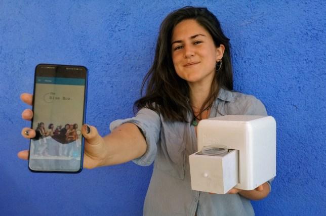 Judit Giro Benet, who has won the International winner of the James Dyson Award 2020, for The Blue Box