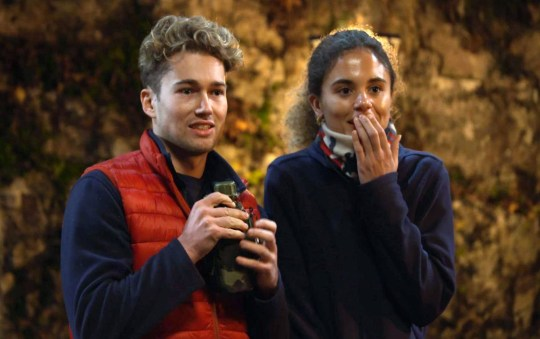 STRICT EMBARGO - NO PUBLICATION BEFORE 22:00 GMT Wednesday 18th November 2020. Editorial use only Mandatory Credit: Photo by ITV/REX (11021612s) Kiosk Cledwyn's Ye Olde Shoppe - AJ Pritchard and Jessica Plummer 'I'm a Celebrity... Get Me Out of Here!' TV Show, Series 20, Show 4, Gwrych Castle, Wales, UK - 18 Nov 2020