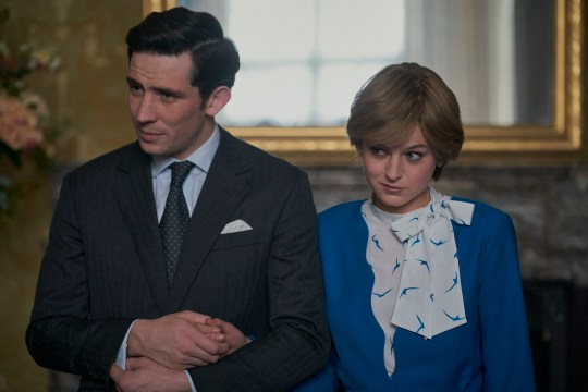 Emma Corrin and Josh O'Connor in The Crown