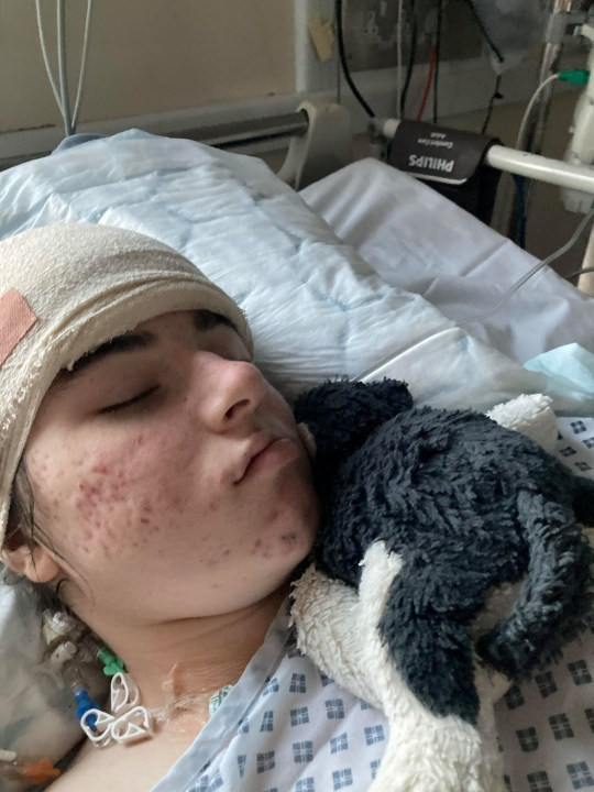 Imogen Golder in hospital..