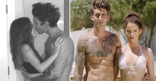Love Island's Chris and Maura almost kissing and pictured together on Love Island