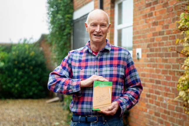 Pictured: Alan Pilcher with his book outside his home in Gosport.