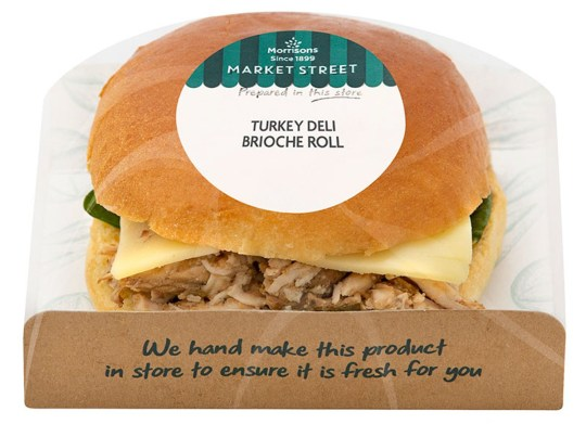 Morrisons' Christmas offering includes the new turkey Deli Brioche Roll.