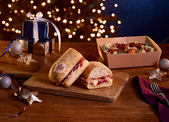 Costa's Christmas range includes the Brie, Maple Bacon and Cranberry Panini.