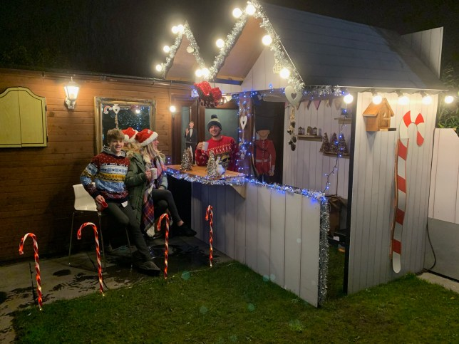 DIY dad builds Christmas Markets in his garden
