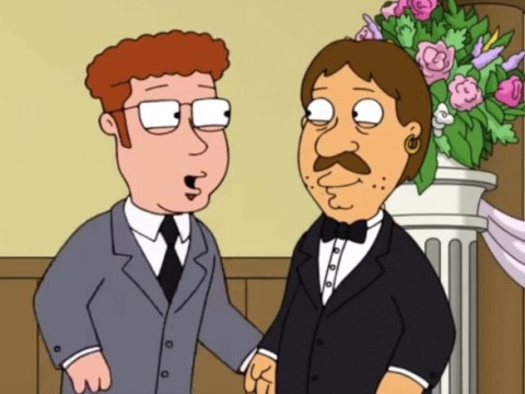 Family Guy's 'Oh no!' man Bruce comes out and marries boyfriend