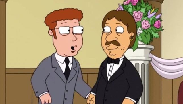 Family Guy character Bruce married his boyfriend