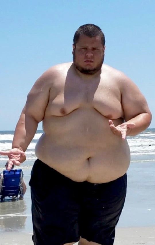 Alejandro before his weight loss