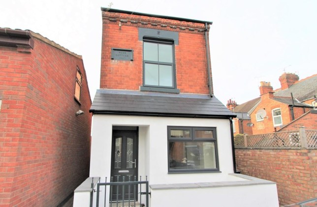 13ft wide home renovated and now on sale. Goldhill Road, in Knighton, Leicester