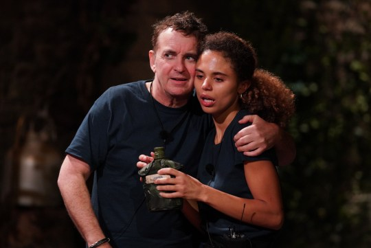 STRICT EMBARGO - NO PUBLICATION BEFORE 22:15 GMT Wednesday 25th November 2020. Editorial Use Only Mandatory Credit: Photo by Kieron McCarron/ITV/REX (11052080at) Trial, Sickening Stalls - Jessica Plummer and Shane Richie 'I'm a Celebrity... Get Me Out of Here!' TV Show, Series 20, Show 11, Gwrych Castle, Wales, UK - 25 Nov 2020