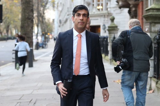 Chancellor of the Exchequer Rishi Sunak leaves Millbank broadcasting studios in Westminster, central London, after a round of media interviews following Wednesday's Spending Review aimed at dealing with the economic impact of the coronavirus crisis. PA Photo. Picture date: Thursday November 26, 2020. See PA story POLITICS Spending. Photo credit should read: Yui Mok/PA Wire