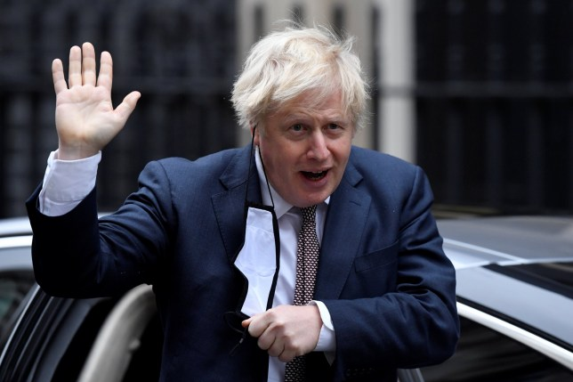 Britain's Prime Minister Boris Johnson seen in public for the first time since his self-isolation ended, arrives at Downing Street during the coronavirus disease (COVID-19) outbreak in London, Britain, November 26, 2020. REUTERS/Toby Melville