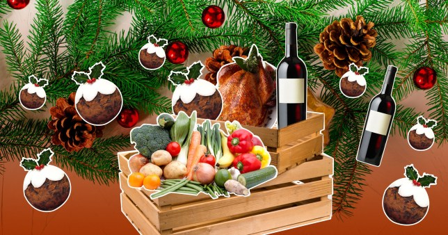 Christmas dinner food boxes