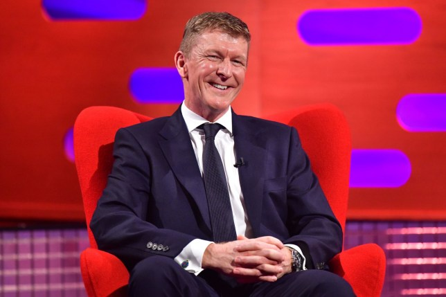 Tim Peake during the filming for the Graham Norton Show.