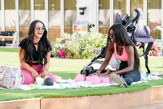 Love Island USA star Cely Vazquez and Justine Ndiba