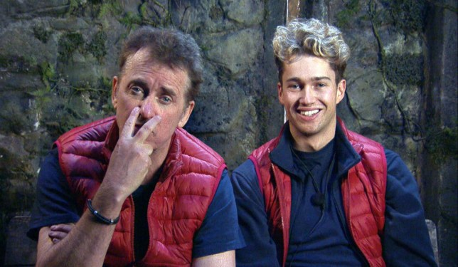 Shane Richie and AJ Pritchard on I;m a Celeb