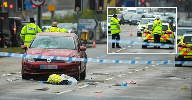 Picture: MEN Media MAN ARRESTED AFTER WOMAN DIES AS CAR COLLIDES WITH PEDESTRIANS