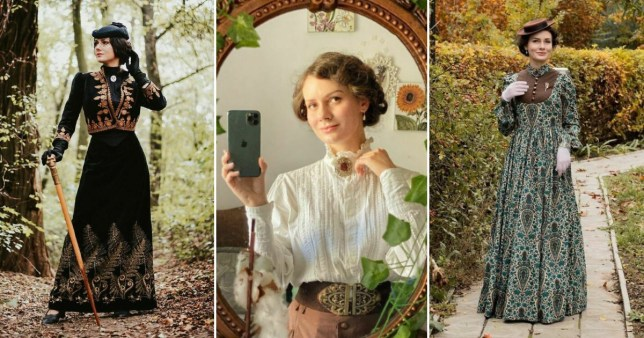 Woman dresses in 19th-century attire every day your_sunny_flowers/Instagram