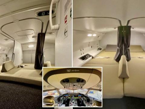 Ever wondered where flight attendants sleep? Video shows hidden plane feature