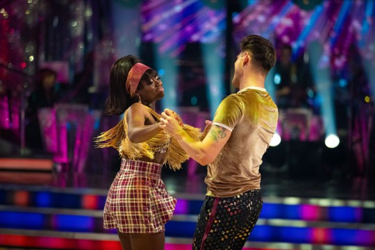 Clara Amfo in the Strictly dance off