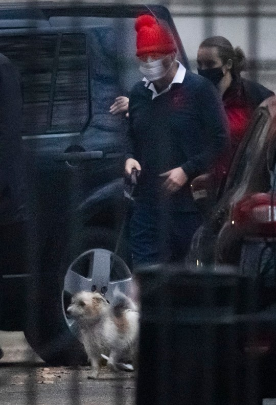 ? Licensed to London News Pictures. 30/11/2020. London, UK. Prime Minister Boris Johnson returns to Downing Street with his dog Dilyn after a morning run. Later this week England will enter a new three tier plan of coronavirus restrictions to control the spread of Covid-19. Photo credit: Peter Macdiarmid/LNP
