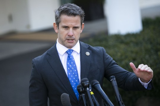 Representative Adam Kinzinger, a Republican from Illinois, speaks to members of the media following a meeting with U.S. President Donald Trump, not pictured, outside the White House in Washington, D.C., U.S., on Wednesday, March 6, 2019. Senator??Chuck Grassley??of Iowa, one of the few Republicans with the power to request President Trump's tax returns wants to make sure that if House Democrats are successful in getting them, he wants to see them, too. Photographer: Al Drago/Bloomberg via Getty Images