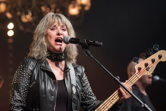 epa06761199 US musician Suzi Quatro performs at the Retro Festival in Lucerne, Switzerland, 24 May 2018. The music event runs from 23 to 27 May. EPA/URS FLUEELER