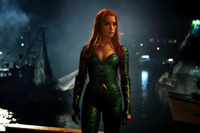 Amber Heard in a scene from Aquaman.