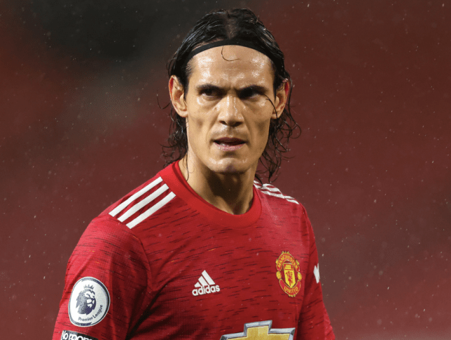 Edinson Cavani looks on during Manchester United's Premier League clash with Chelsea