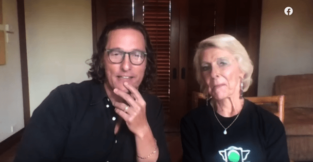 Matthew McConaughey and his mum Kay