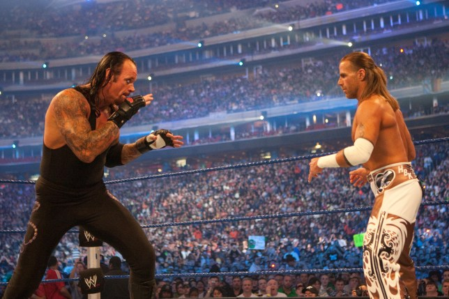 WWE legends The Undertaker and Shawn Michaels at WrestleMania