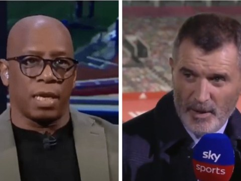 Ian Wright reveals he was 'hammered' by Manchester United legend Roy Keane after Arsenal's defeat to Aston Villa