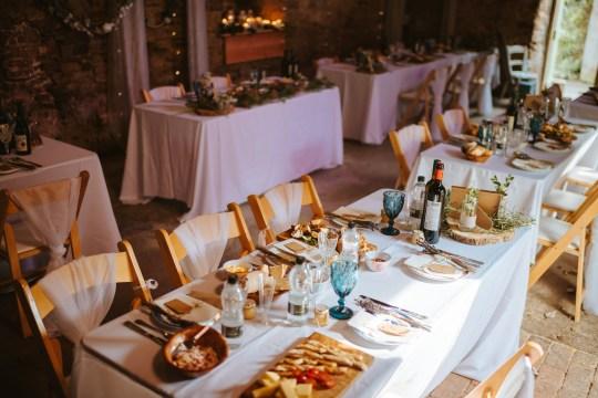 a brunch wedding setup