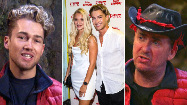 I'm A Celebrity 2020 star AJ Pritchard and his girlfriend Abbie Quinnen and Shane Richie