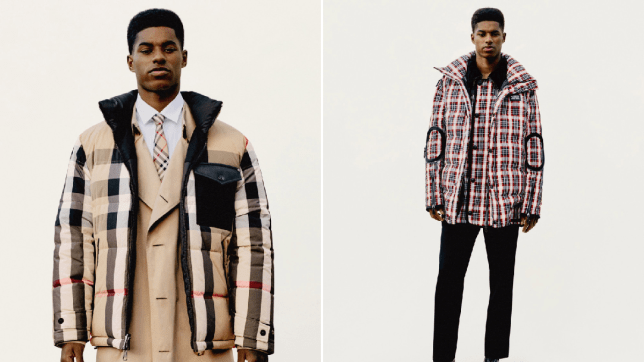 Marcus Rashford in burberry campaign