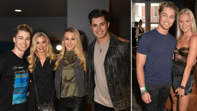 AJ Pritchard with Abbie Quinnen and Curtis / AJ and Abbie