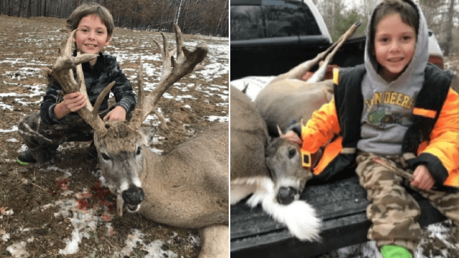 Jericho with most recent kill and a deer he previously shot