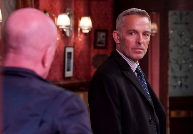 Phil and DI Thompson in EastEnders
