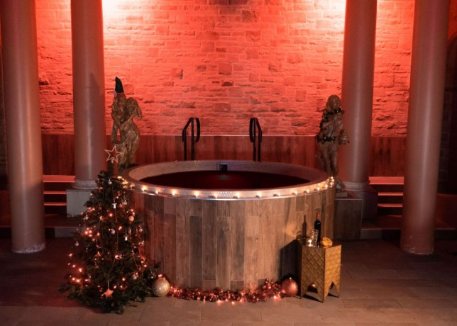 mulled wine hot tub as part of spa day experience